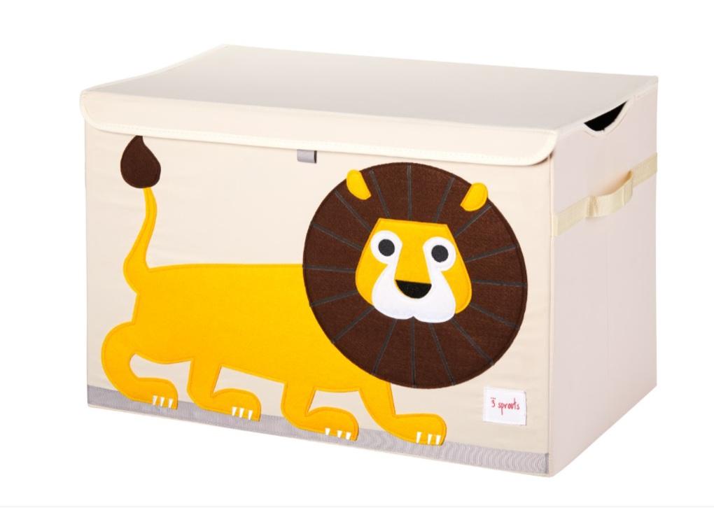 3Sprouts Καλάθι Για Παιχνίδια Με Καπάκι-Lion