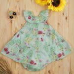 Φόρεμα από Ποπλίνα με Στάμπα για Κορίτσι