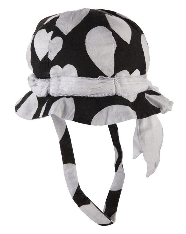 Καπέλο Μαύρο με Στάμπα Καρδιές για Κορίτσι