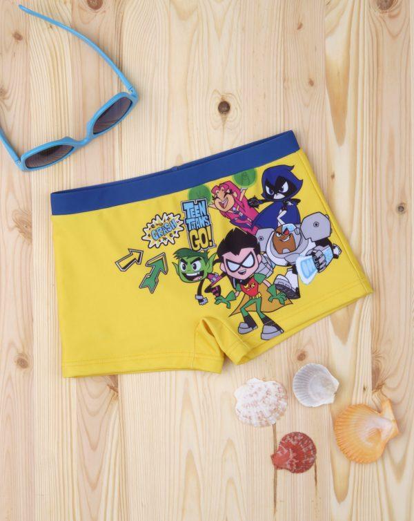 Μαγιό Boxer Κίτρινο Teen Titans Go για Αγόρι