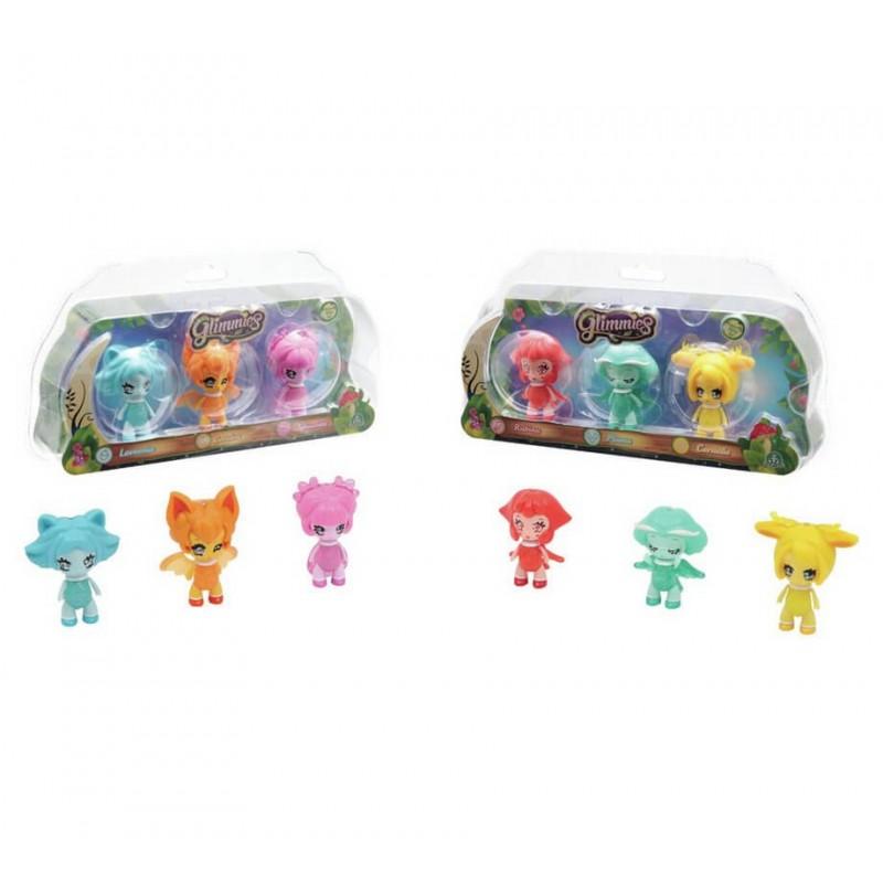 Glimmies Σετ 3 Κούκλες - 2 Σχέδια GLM02000