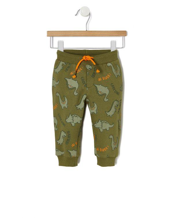 Παντελόνι Φόρμας με Στάμπα Δεινόσαυρους για Αγόρι