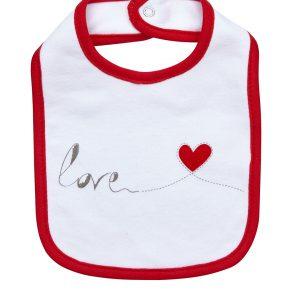 Σαλιάρα Love με Καρδούλα Unisex