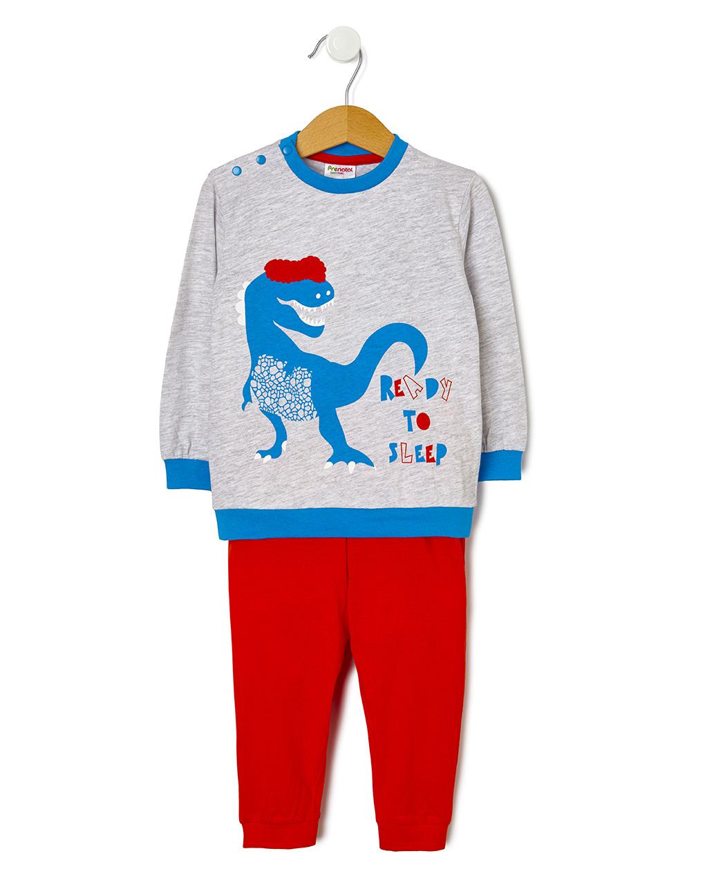 Πιτζάμα Jersey με Στάμπα Δεινόσαυρο για Αγόρι