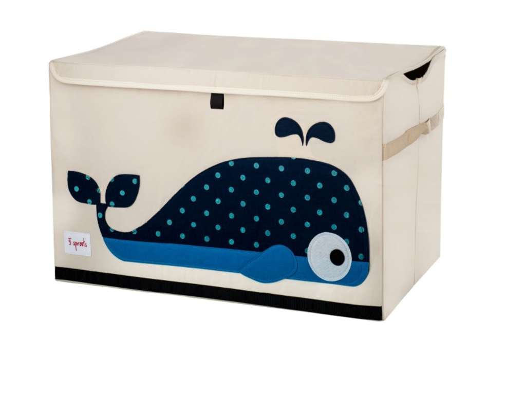 3Sprouts Καλάθι Για Παιχνίδια Με Καπάκι- Whale