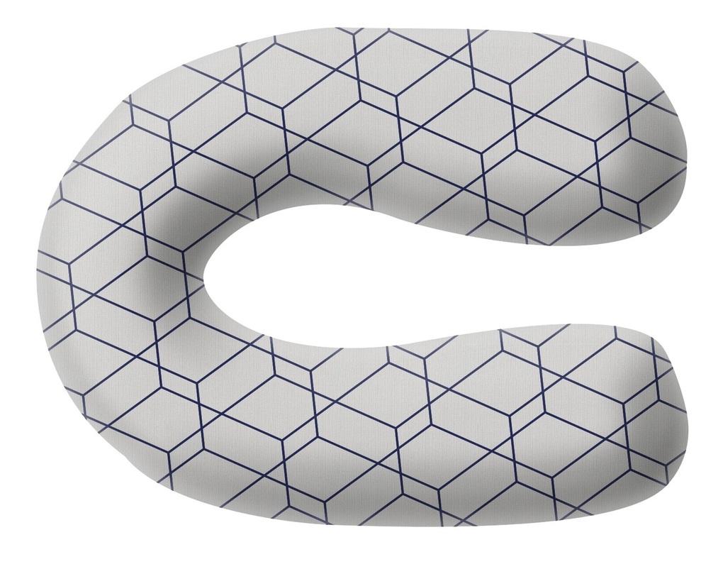 Grecostrom Μαξιλάρι Θηλασμού κι Εγκυμοσύνης Standard Honeycomb Grey