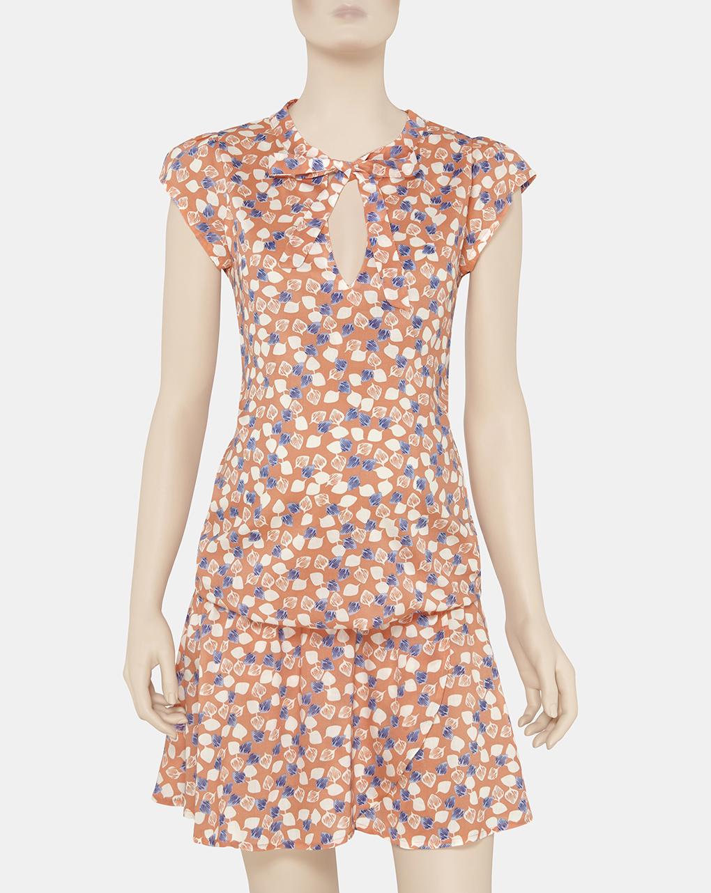 Γυναικείο Φόρεμα με Κοντά Μανίκια