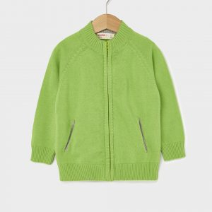 Ζακέτα Βαμβακερή Πράσινη για Αγόρι