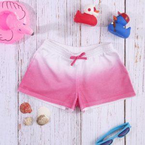 Σορτσάκι Jersey Basic Ροζ Σκιασμένο για Κορίτσι