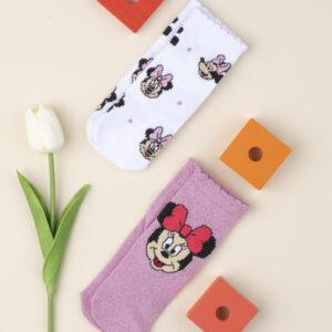 Καλτσάκια Κοντά πακέτο x2 Minnie για Κορίτσι