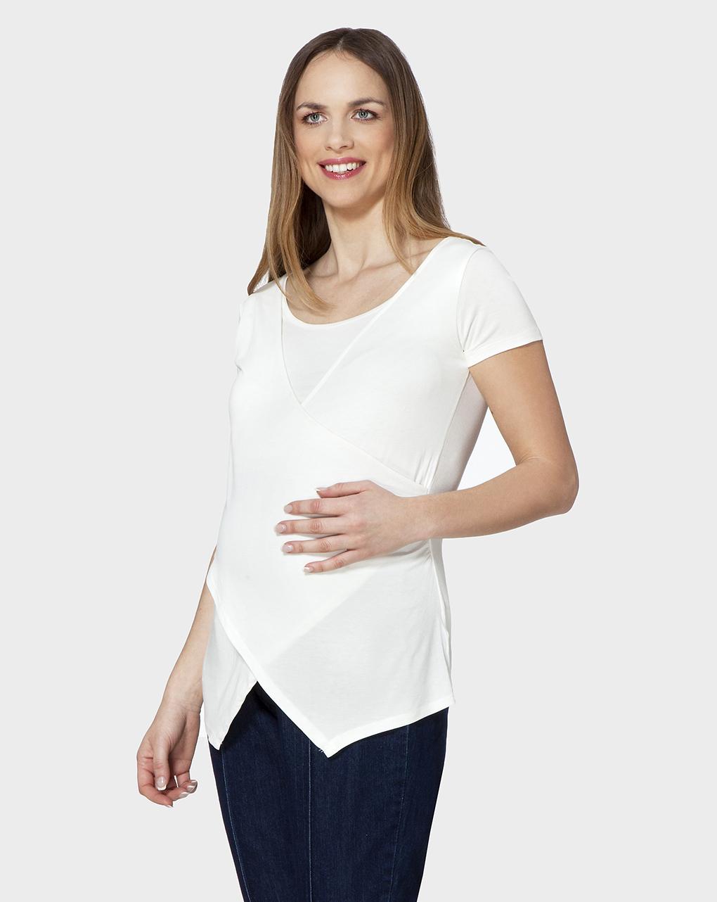 Γυναικείο T-shirt Θηλασμού Εκρού