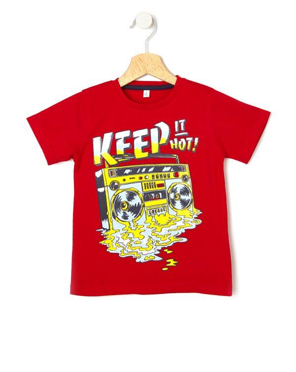 T-shirt Κόκκινο για Αγόρι