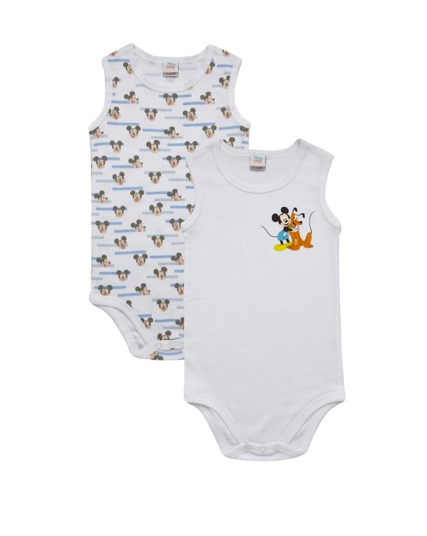 Κορμάκι Αμάνικο Πακέτο Χ2 Mickey για Αγόρι