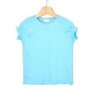 T-Shirt Jersey Basic Γαλάζιο Μεγ.8-9/9-10 Ετών για Κορίτσι