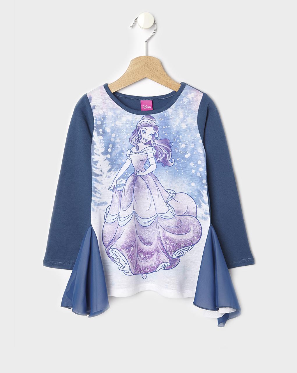T-shirt Maxi Με Πριγκίπισσα Μπλε για Κορίτσι