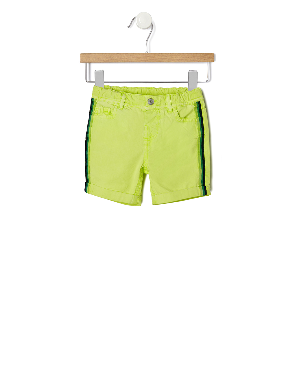 Βερμούδα Twill Πράσινη για Αγόρι