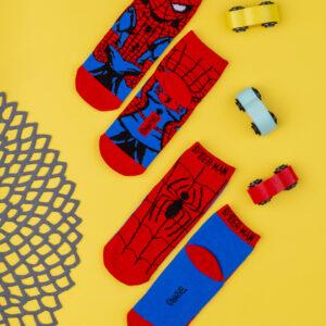 Καλτσάκια Κοντά πακέτο x2 Spiderman για Αγόρι