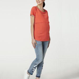 Γυναικείο T-Shirt Θηλασμού Κοραλί