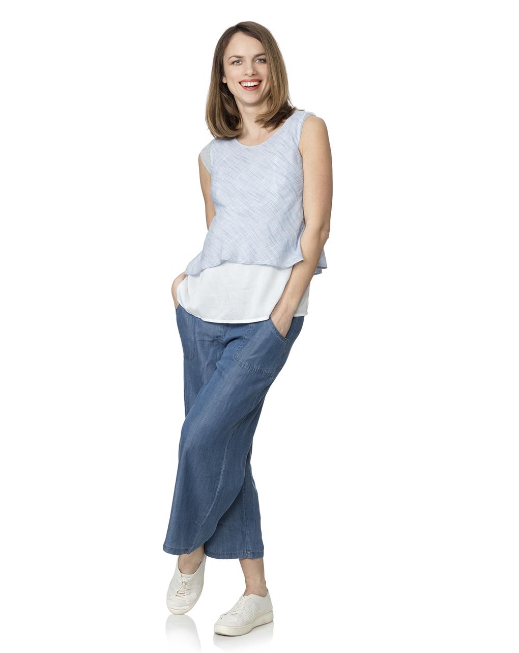 Γυναικεία Παντελόνα Chambray