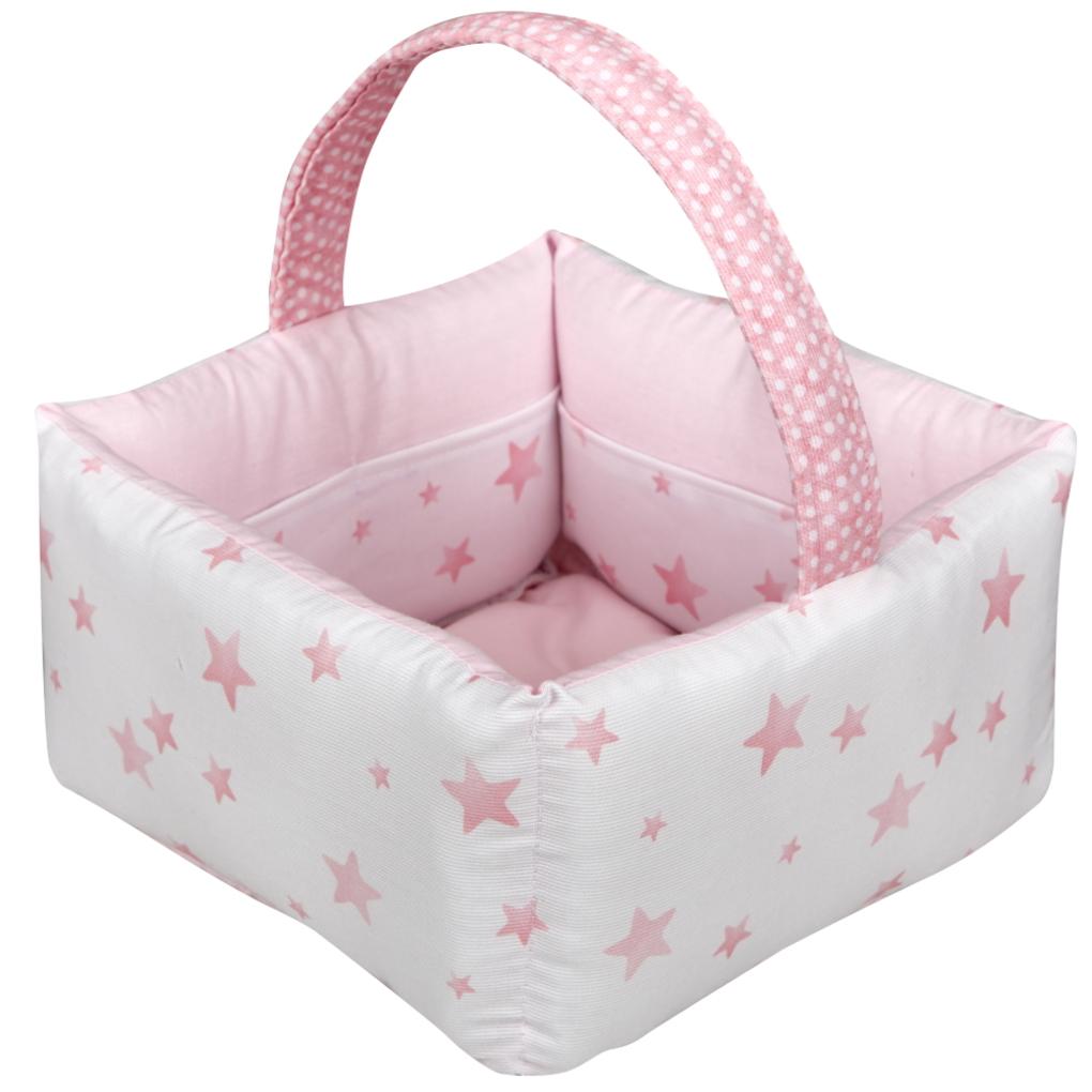 """Ο Κόσμος Του Μωρού Καλαθάκι καλλυντικών """"The Bobos"""" Ροζ"""