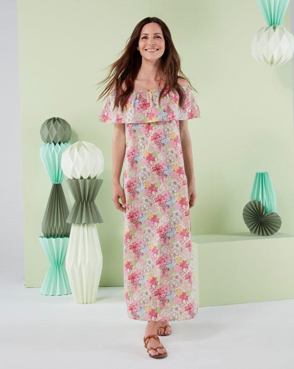 Γυναικείο Φόρεμα Μακρύ με Εμπριμέ Στάμπα