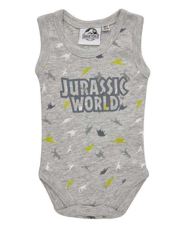Κορμάκι Αμάνικο Γκρι Jurassic World για Αγόρι