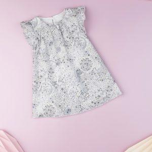Φόρεμα Λευκό με Στάμπες για Κορίτσι