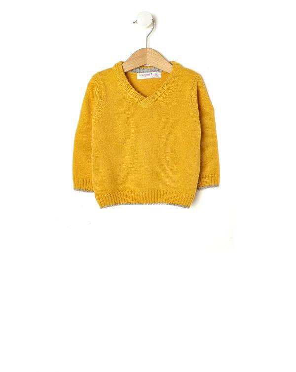 Μπλούζα Πλεκτή Κίτρινη για Αγόρι