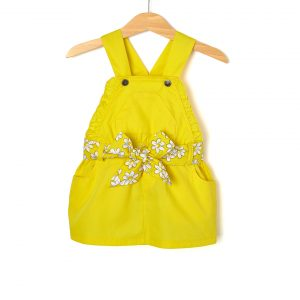 Σαλοπέτα Κίτρινη με Ζώνη για Κορίτσι