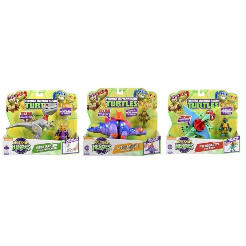 Χελωνονιντζάκια TMNT Teenage Mutant Ninja Turtles Half-Shell Heroes Dino με φιγούρα TUH03111