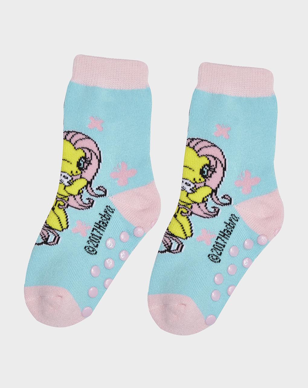 Κάλτσες Αντιολισθητικές Γαλάζιες Μικρό μου Πόνυ για Κορίτσι