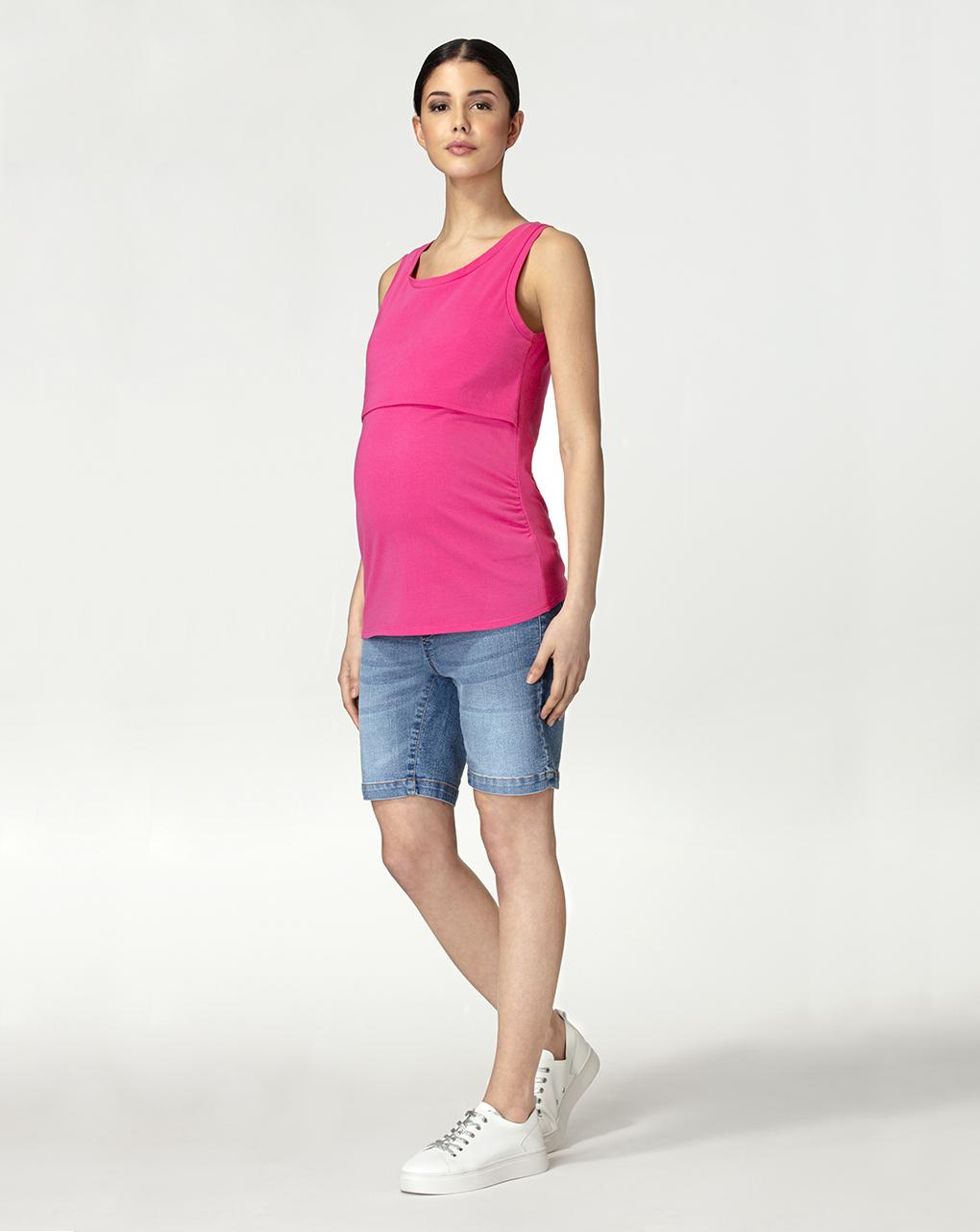 Γυναικεία Αμάνικη Μπλούζα Θηλασμού Φούξια