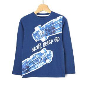 T-shirt με Maxi Στάμπα Μεγ.8-9/9-10 ετών για Αγόρι