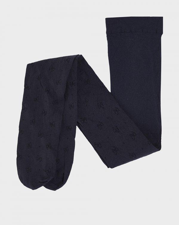 Καλσόν Μπλε Σκούρο με Φιογκάκια για Κορίτσι