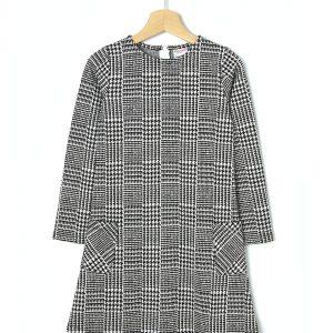 Φόρεμα μακρυμάνικο jaquard