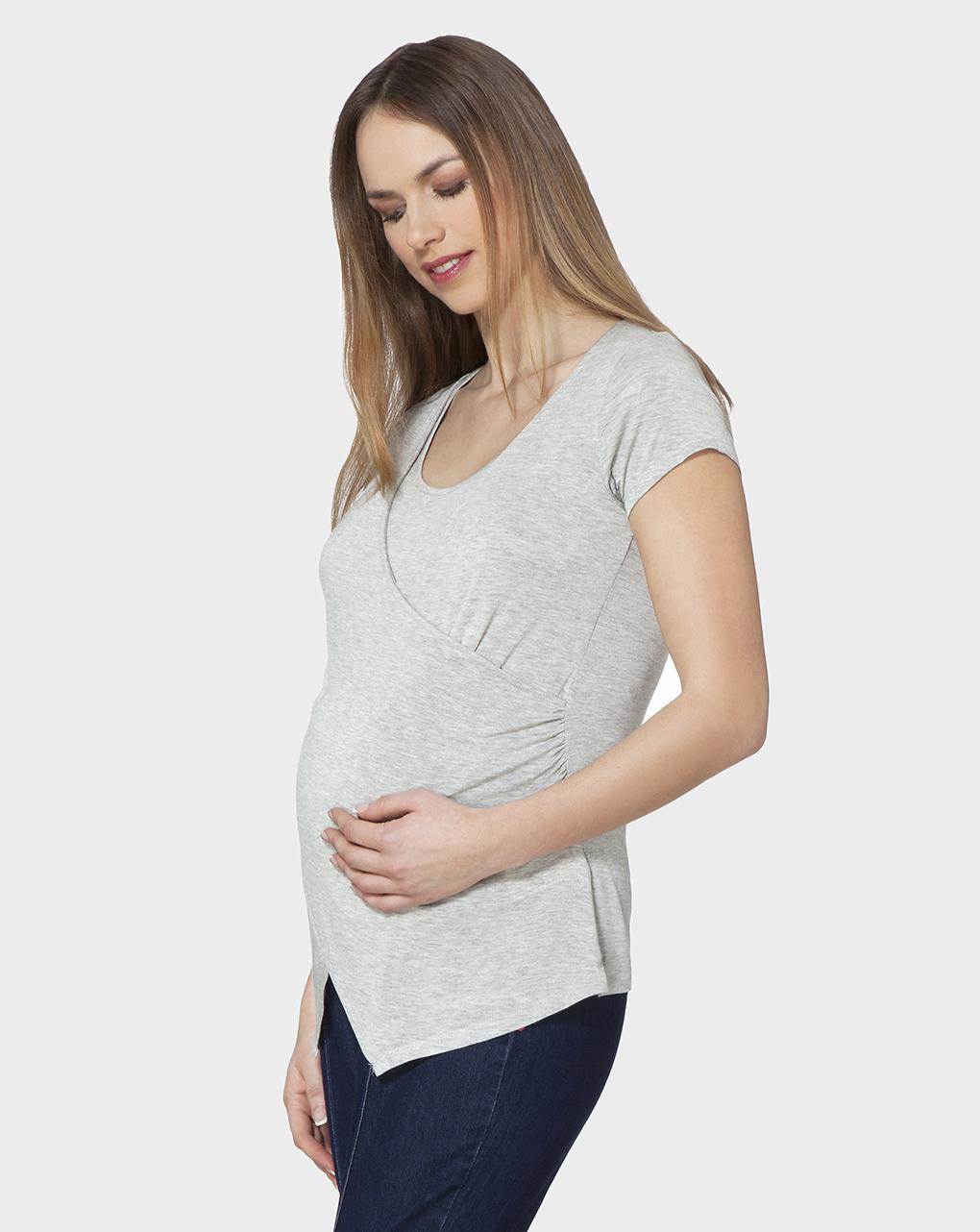 Γυναικείο T-shirt Θηλασμού Γκρι