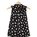 Φόρεμα Μαύρο με Στάμπες Αστεράκια για Κορίτσι