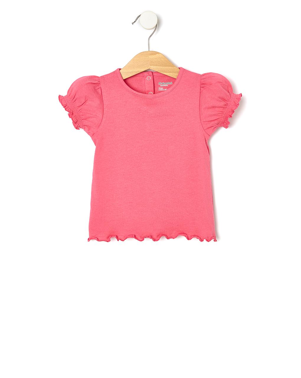 T-Shirt Jersey Φούξια για Κορίτσι