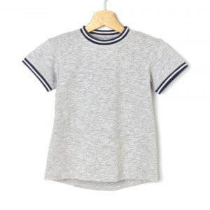 T-Shirt Βαμβακερό Γκρι Μεγ.8-9/9-10 Ετών για Αγόρι