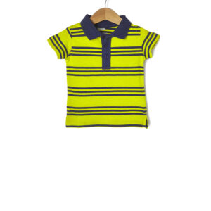 T-shirt Jersey Πόλο Ριγέ Πράσινο - Μπλε για Αγόρι
