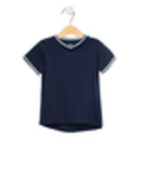 T-Shirt Basic Σκούρο Μπλε Μεγ.8-9/9-10 Ετών για Αγόρι