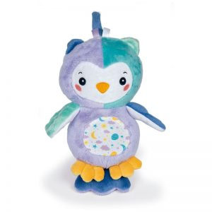 Baby Clementoni Goodnight Owl Βρεφικό Χνουδωτό Κουκουβάγια Με Φως 1000-17268