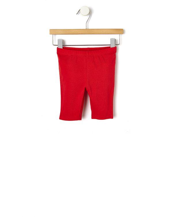 Κολάν Jersey 3/4 Basic Κόκκινο για Κορίτσι