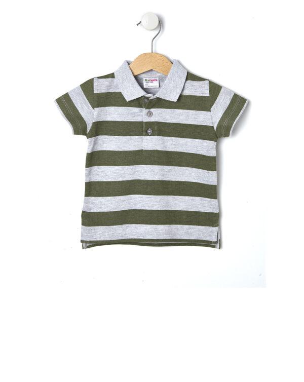 Μπλούζα Πόλο Πικέ Ριγέ για Αγόρι