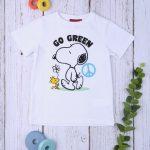 T-shirt Λευκό Snoopy για Αγόρι