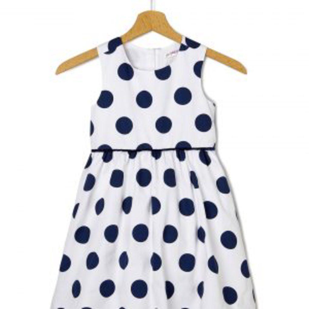 Φόρεμα Αμάνικο Πουά Μεγ.8-9/9-10 Ετών για Κορίτσι