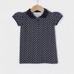 T-Shirt Πόλο Πικέ Basic Εμπριμέ για Κορίτσι