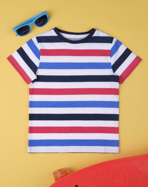 T-Shirt Basic Ριγέ για Αγόρι