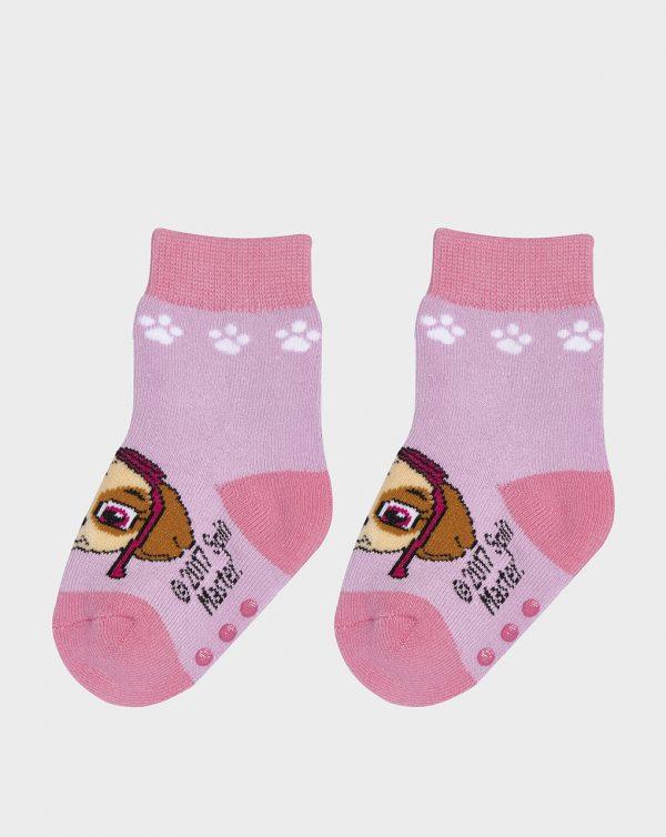 Κάλτσες Αντιολισθητικές Λιλά Paw Patrol για Κορίτσι