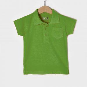 T-shirt Jersey Πόλο Πράσινο για Αγόρι